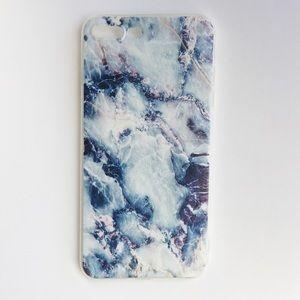 Accessories - LAST ONE iPhone 7+/8+ Case Blue Granite Marble